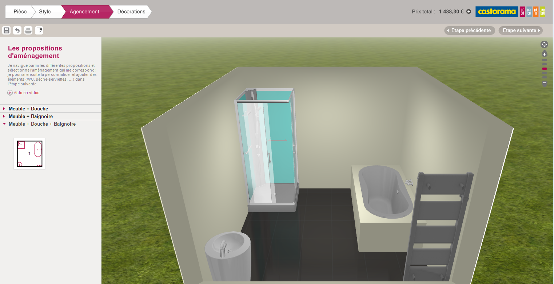 Salle de bain en 3d les logiciels en ligne et leur for Faire un plan de salle de bain gratuit